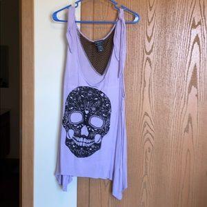 Hot Topic Skull Lilac Tank